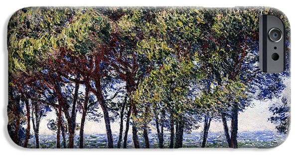 1880s iPhone Cases - Pines iPhone Case by Claude Monet