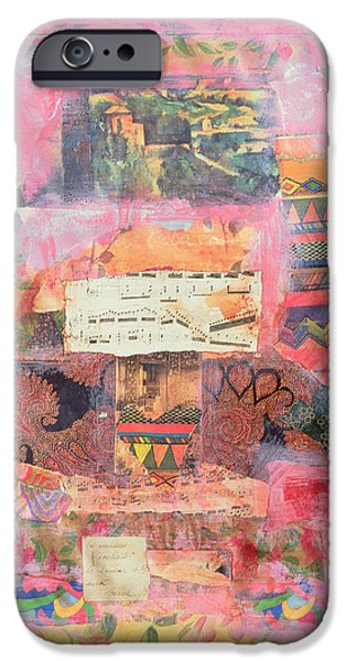 Sheets iPhone Cases - Pink, 1999 Mixed Media iPhone Case by Nissan Engel