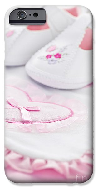 Pink baby girl clothes iPhone Case by Elena Elisseeva