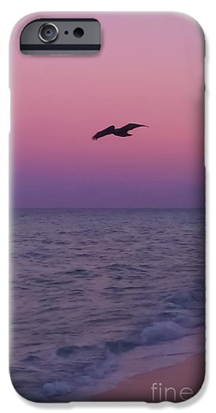 Ocean Sunset iPhone Cases - Pink Beach Sunset iPhone Case by Charlie Cliques
