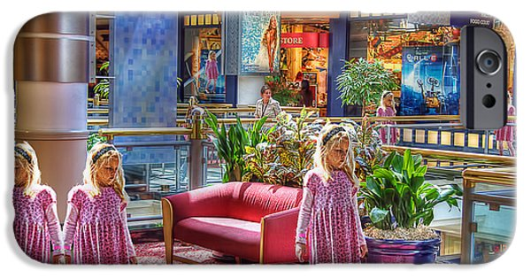 Toy Store Photographs iPhone Cases - Pink Bench iPhone Case by Chuck Staley