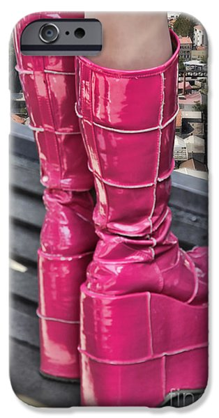 Pink Boots iPhone Case by Jasna Buncic