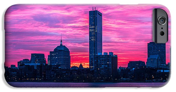 Charles River iPhone Cases - Pink Boston iPhone Case by Paul Treseler