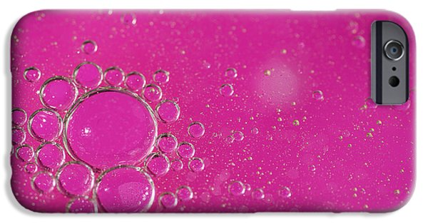 Bubbly iPhone Cases - Pink Bubbles iPhone Case by Samuel Whitton