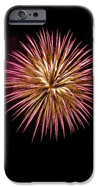Fireworks iPhone Cases - Pink Burst iPhone Case by Donna Cavanaugh