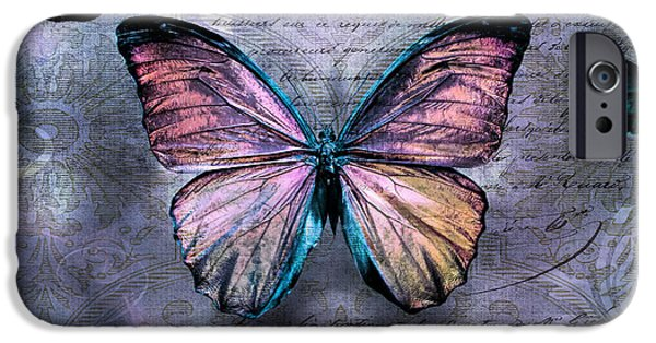 Freedom iPhone Cases - Pink Butterflies iPhone Case by Evie Carrier