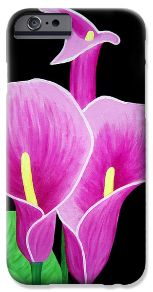 Calla Lilly iPhone Cases - Pink Calla Lillies 2 iPhone Case by Angelina Vick