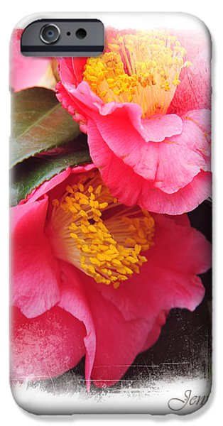 Pink Camellia. Elegant KnickKnacks iPhone Case by Jenny Rainbow