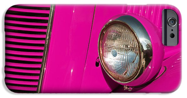 Technology iPhone Cases - Pink Car iPhone Case by Carlos Caetano