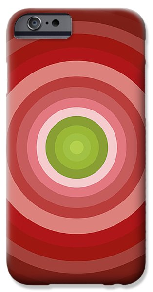 Pink Circles iPhone Case by Frank Tschakert