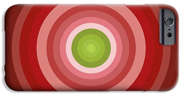 Disc iPhone Cases - Pink Circles iPhone Case by Frank Tschakert