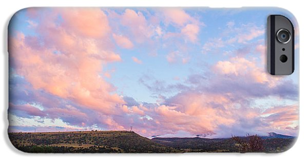 Watson Lake iPhone Cases - Pink Cloud Landscape iPhone Case by Phyllis Bradd