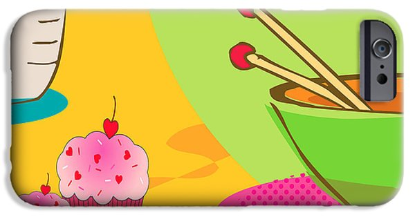 Multimedia iPhone Cases - Pink Cupcakes iPhone Case by Tina M Wenger