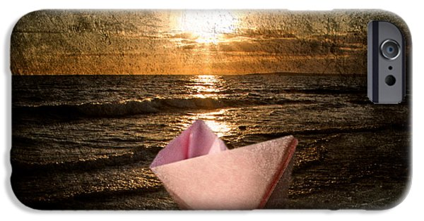 Toy Boat Digital Art iPhone Cases - Pink Dreams iPhone Case by Stylianos Kleanthous