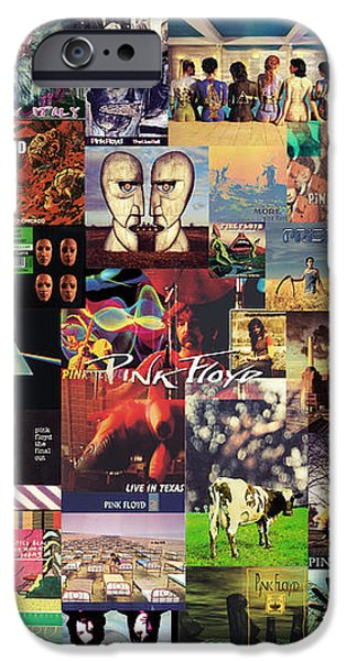 Pink Floyd Collage II iPhone Case by Taylan Soyturk