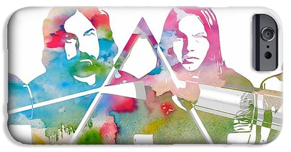 Iconic Mixed Media iPhone Cases - Pink Floyd iPhone Case by Dan Sproul