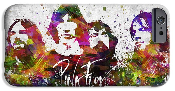 Pink Digital Art iPhone Cases - Pink Floyd in Color iPhone Case by Aged Pixel