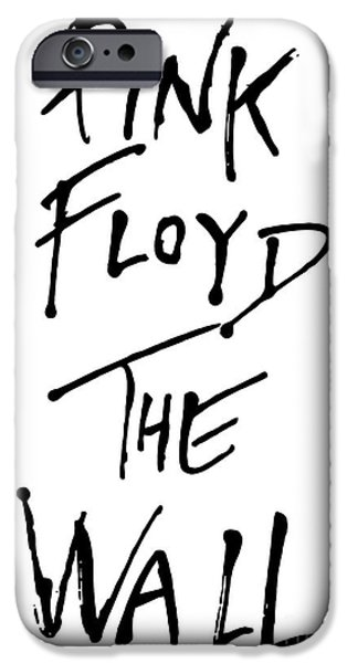 Pink Digital Art iPhone Cases - Pink Floyd No.01 iPhone Case by Caio Caldas