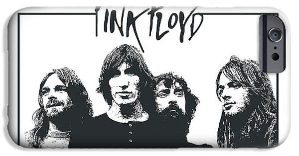 Digital Artwork iPhone Cases - Pink Floyd No.05 iPhone Case by Caio Caldas