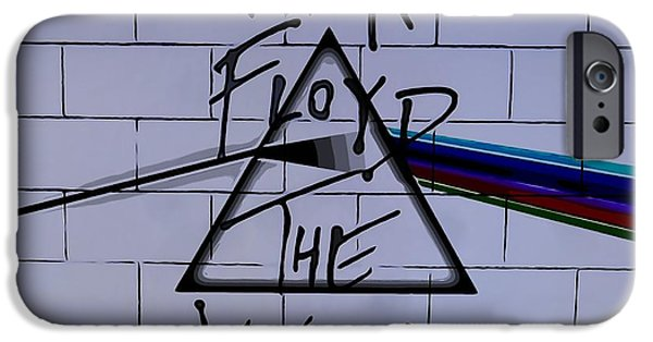 Iconic Mixed Media iPhone Cases - Pink Floyd Poster iPhone Case by Dan Sproul