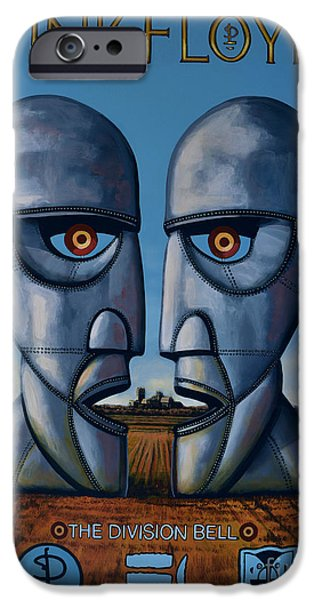Idol Paintings iPhone Cases - Pink Floyd - The Division Bell iPhone Case by Paul  Meijering