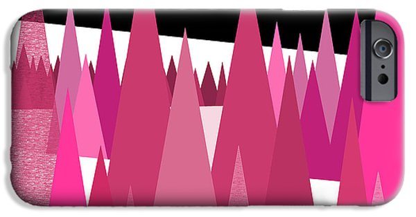 Surreal Landscape iPhone Cases - Pink Forest iPhone Case by Val Arie