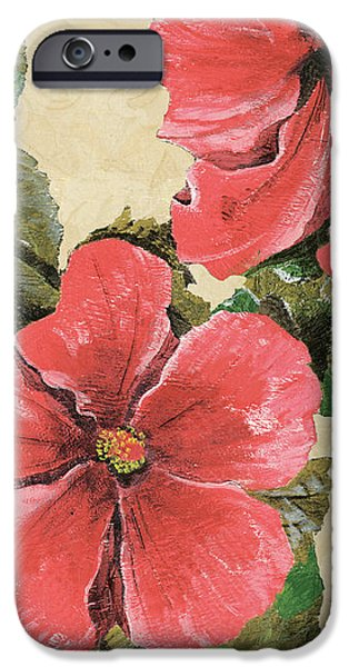 Pink Hibiscus iPhone Case by Debbie DeWitt