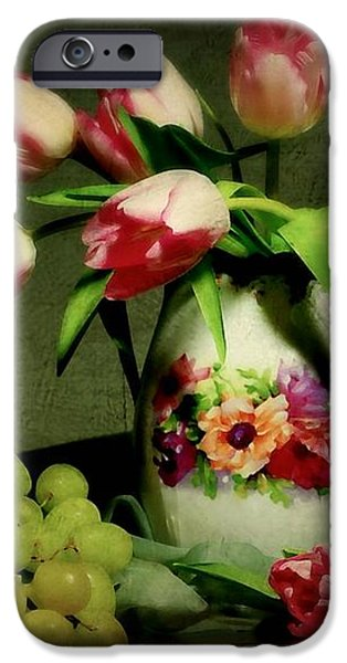 Pink in a Pitcher iPhone Case by Diana Angstadt