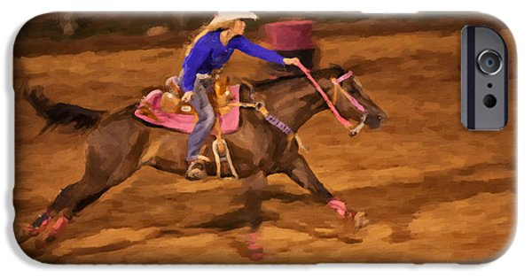 Wild Racers iPhone Cases - Pink iPhone Case by Jack Milchanowski