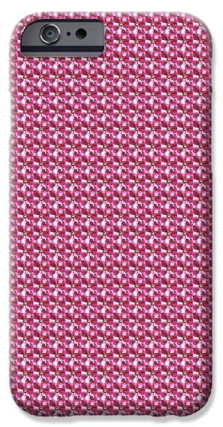 Multimedia iPhone Cases - Pink Jewel CHECK abstract Fine Art Patterns Textures Abstract formations Multi purpose creations  iPhone Case by Navin Joshi
