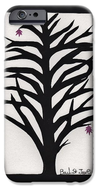 Pink Leaf Maple iPhone Case by Barbara St Jean