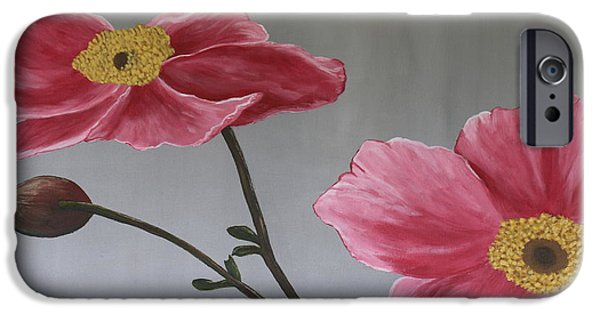 Biological Paintings iPhone Cases - Pink Mexican Aster  - SOLD iPhone Case by Christiane Schulze Art And Photography