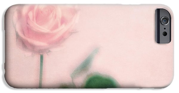 Pastel iPhone Cases - pink moments II iPhone Case by Priska Wettstein