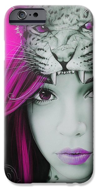 'Pink Moon' iPhone Case by Christian Chapman Art
