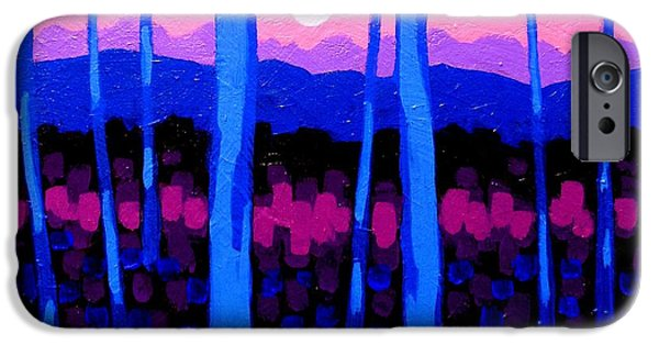Landscape Acrylic Prints iPhone Cases - Pink Moon iPhone Case by John  Nolan