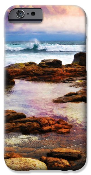 Ocean Sunset iPhone Cases - Pink Ocean Sunset iPhone Case by Phill Petrovic
