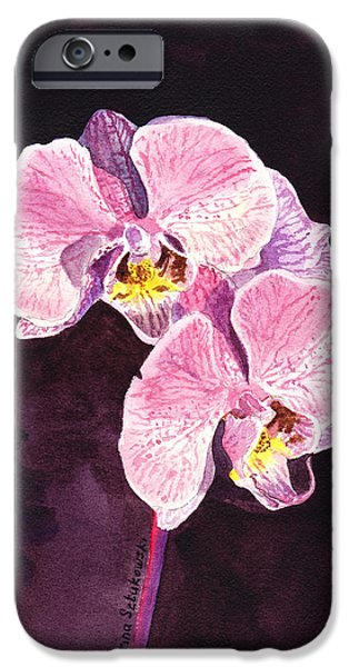 Orchid iPhone Cases - Pink Orchid iPhone Case by Irina Sztukowski