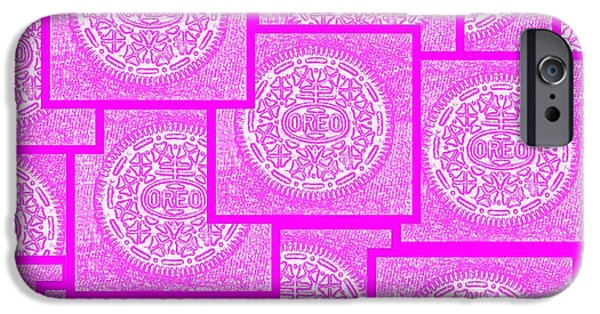 Oreos iPhone Cases - Pink Oreos For The Cure iPhone Case by Rob Hans