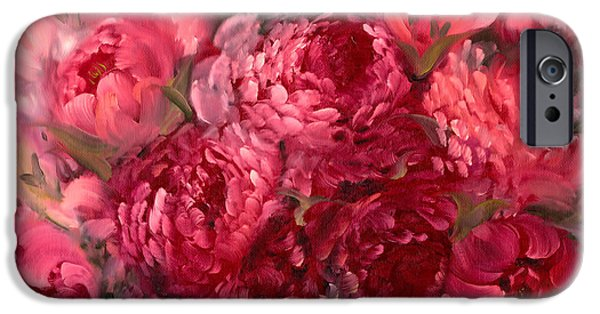 Dark Pink iPhone Cases - Pink Peonies iPhone Case by Melissa Herrin