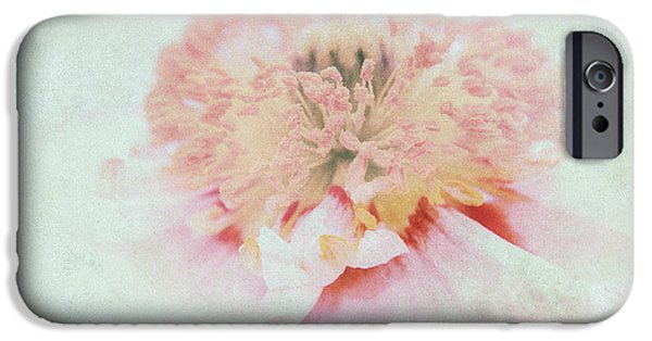 Flora Mixed Media iPhone Cases - Pink Poppy iPhone Case by Angela Doelling AD DESIGN Photo and PhotoArt