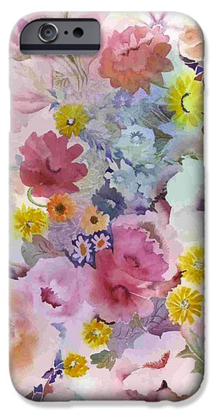 Tasteful Art iPhone Cases - Pink Profusion iPhone Case by Neela Pushparaj