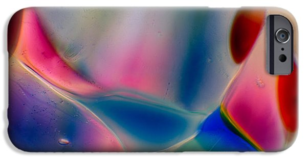 Fine Abstract Glass iPhone Cases - Pink Puppies iPhone Case by Omaste Witkowski