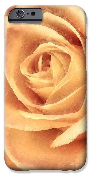 Rose iPhone Cases - Pink Rose Watercolor iPhone Case by Edward Fielding