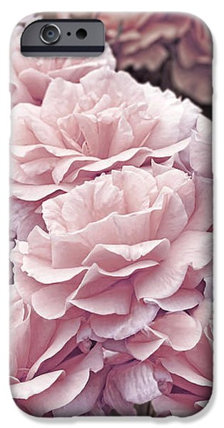 Snake iPhone Cases - Pink Roses in the Garden iPhone Case by Jennie Marie Schell