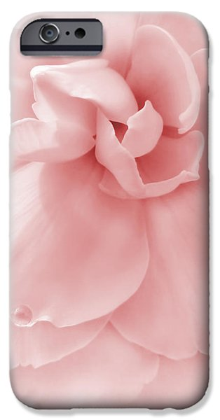Pink Ruffled Begonia Flower iPhone Case by Jennie Marie Schell