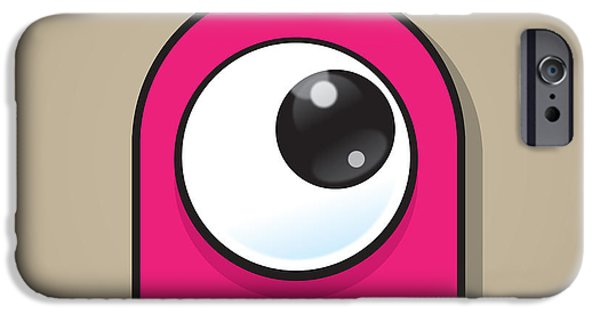 Pinky iPhone Cases - Pink iPhone Case by Samuel Whitton