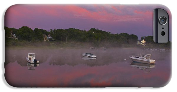 Storm Clouds Cape Cod iPhone Cases - Pink Sky Reflection iPhone Case by Amazing Jules