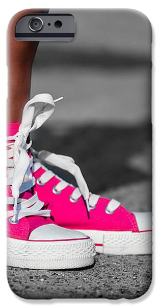 Pink sneakers  iPhone Case by Michal Bednarek