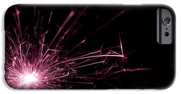 Sparkling iPhone Cases - Pink Sparkle iPhone Case by Samuel Whitton