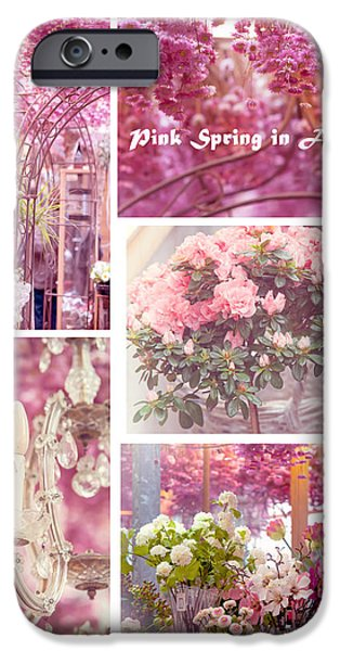 Flower Design Photographs iPhone Cases - Pink Spring in Amsterdam. Flower Market iPhone Case by Jenny Rainbow